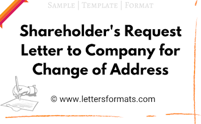 request letter for change of address in share certificate