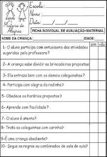 Ficha individual para maternal