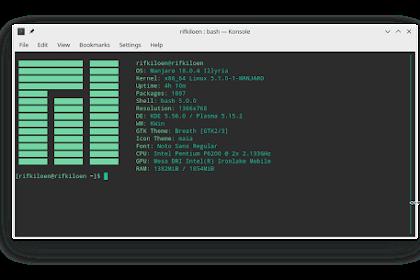 Mempercantik Tampilan Terminal Manjaro Linux Dengan ScreenFetch