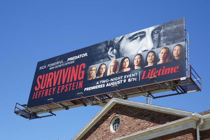 Surviving Jeffrey Epstein Lifetime billboard