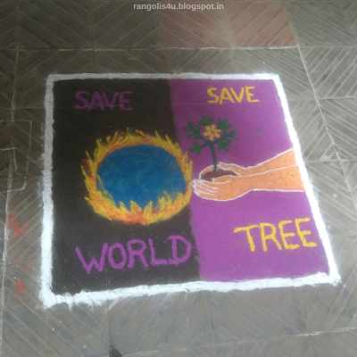 Save Nature Rangolis