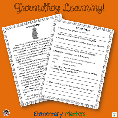 Shh, we had fun! I took a couple of days off from the required curriculum to enjoy learning about Groundhog Day and Day 100! This post offers resource ideas and has a freebie!