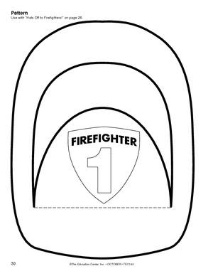 Molde para imprimir y recortar casco de bombero