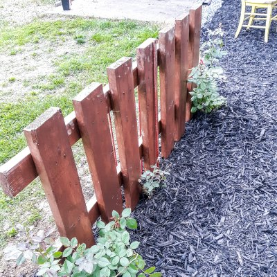 DIY Rustic fence with climbing roses | On The Creek Blog