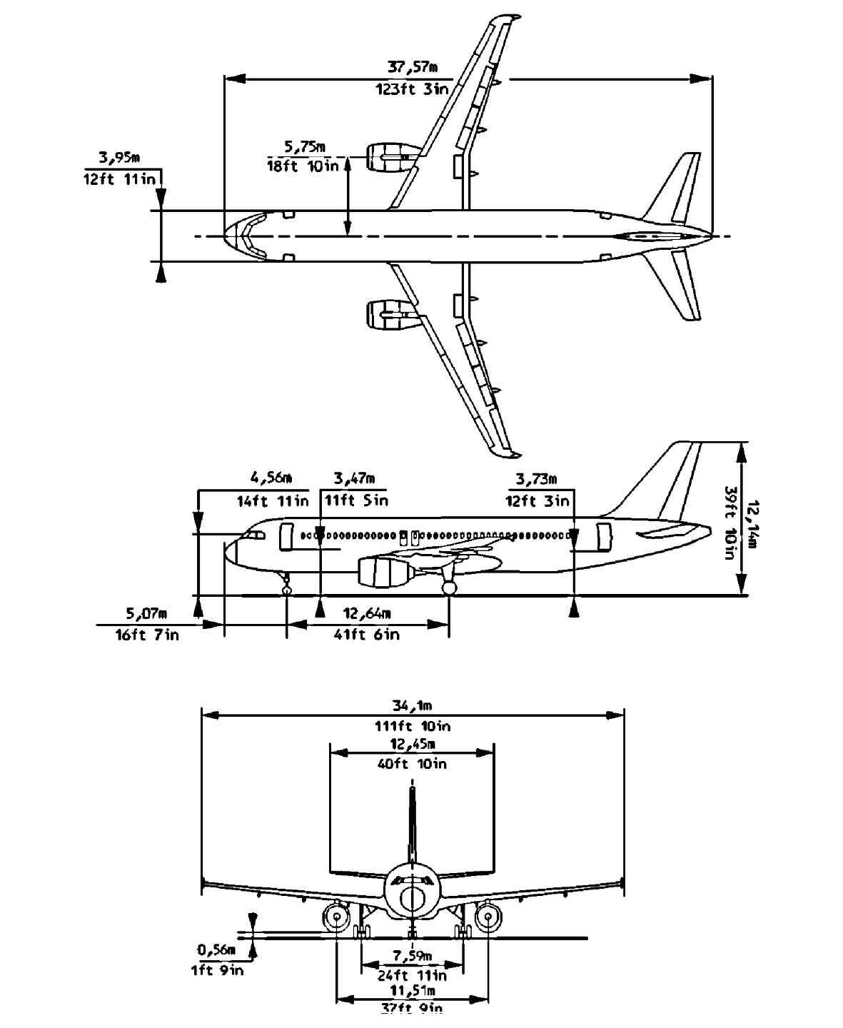 A320F technical description: AIRCRAFT GENERAL