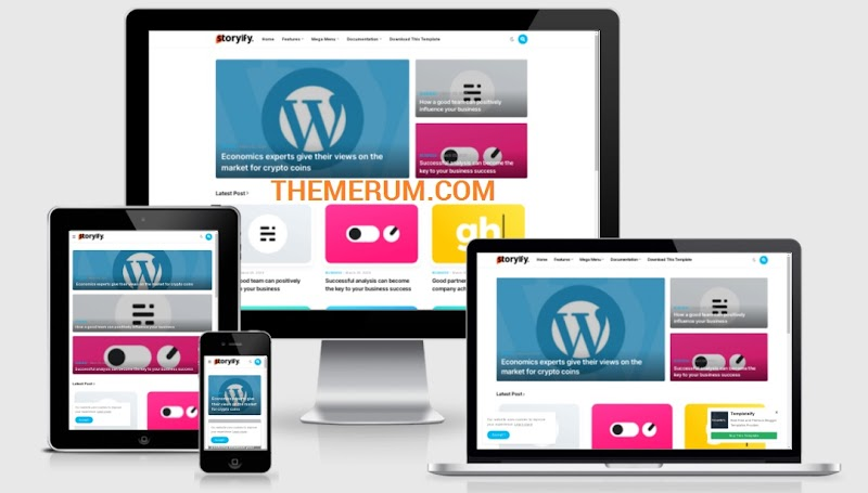 Storyify Blogger Template Download Free