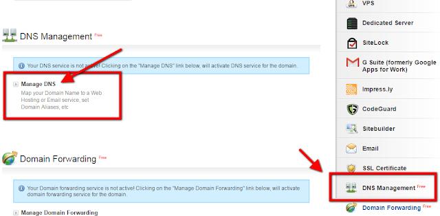 Manage DNS - Bigrock