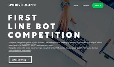 Kompetisi Membuat BOT Line Berhadiah Rp800.000.000 | LINE Developer Challenge
