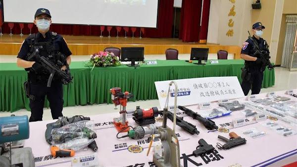 彰警威力掃蕩護治安 破獲改造槍械工廠