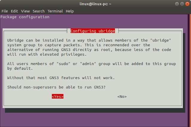 ubridge ubuntu gns3