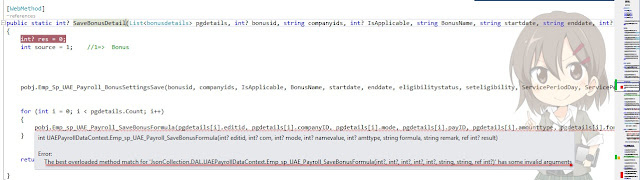 Parameter error in c#