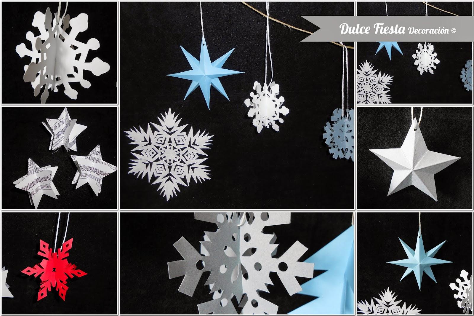 Dise o y decoraci n personalizada para eventos diy - Adornos de navidad con papel ...
