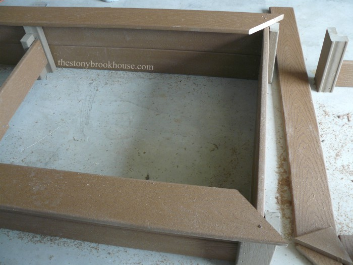 Mitered corners of planter box