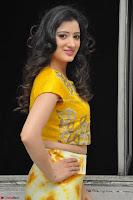 Richa Panai in Yellow Slim Fit Crop top ~ CelebxNext 004.JPG