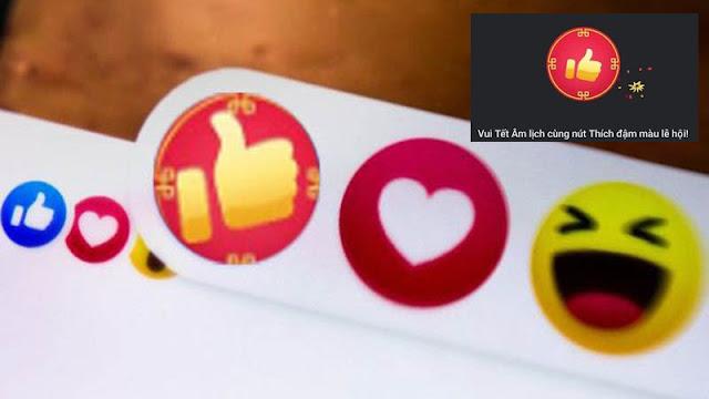 Cách bật nút Like đỏ trên Facebook để đón Tết Tân Sửu