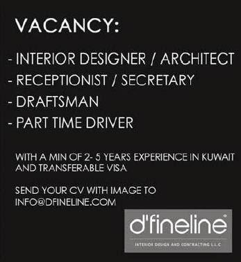 Jobs In Kuwait Interior Designer Architect Draftsman Needed For Dfineline Co