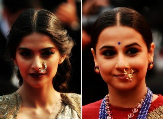 8ee7041a3ae3 Sonam Kapoor y Vidya Balan lucen unos Naths en el Festival de Cannes.
