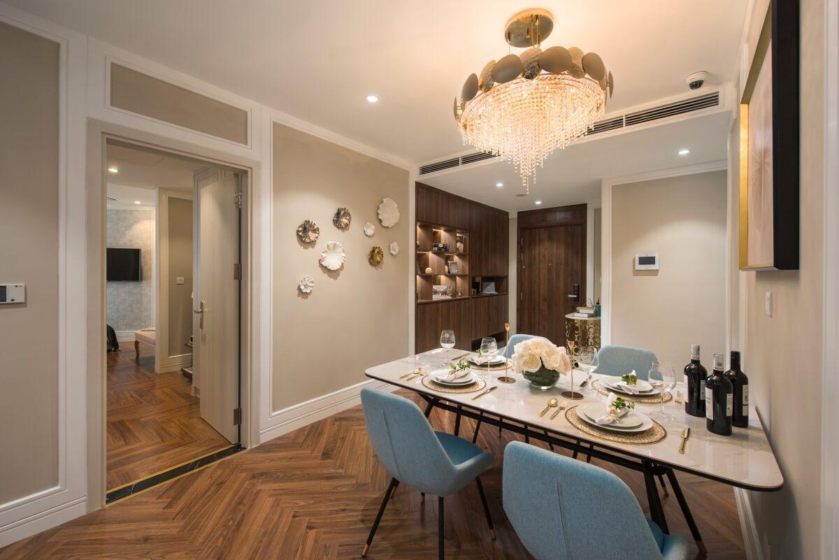 Phòng ăn căn hộ mẫu King Palace Nguyễn Trãi