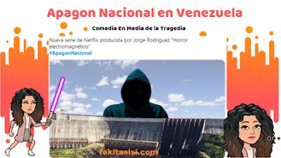 (Imagen) Twitter millones de venezolanos expresaron su descontento con el nuevo mega apagon en Venezuela, algunos en medio de la desgracia utilizan la comedia para reportar la emergencia electrica
