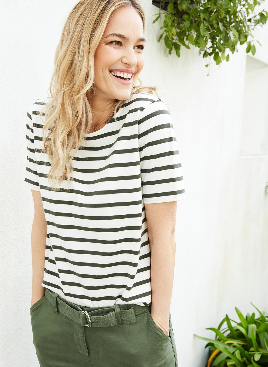my midlife fashion, baukjen Emma organic classic top