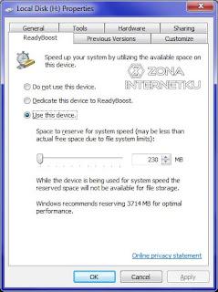 Cara Menambah RAM Laptop Dan Komputer Dengan ReadyBoost Flashdisk