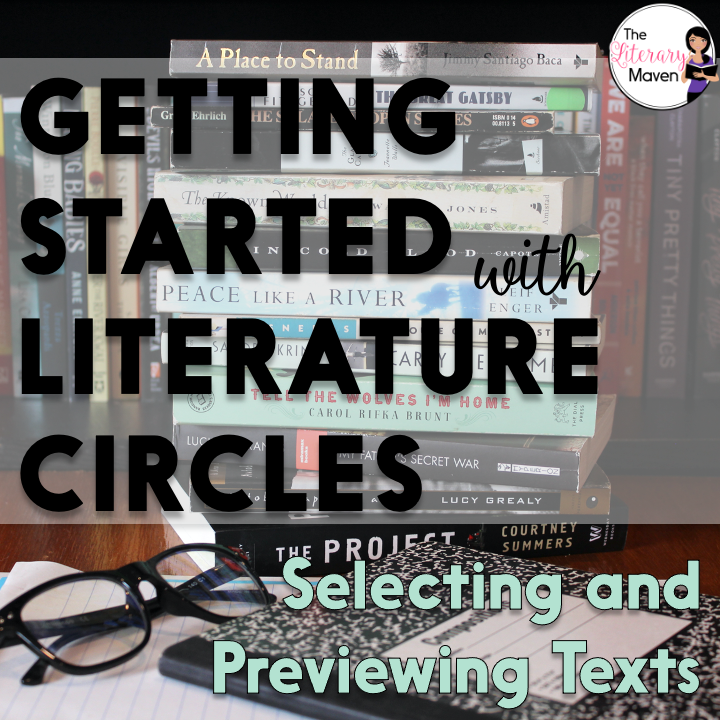Running literature circles in your classroom may seem daunting. Find out how I select books to offer students and having them preview those choices.