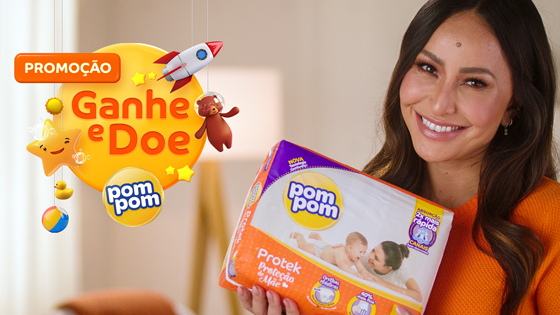 Promoção Ganhe e Doe Pom Pom