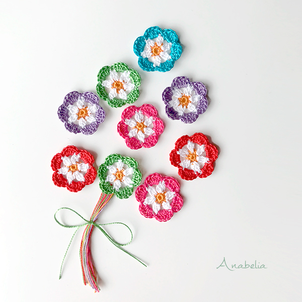 Crochet flowers bouquet by Anabelia Craft Design