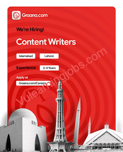 Graana.com Jobs 2020 In Pakistan For Senior Graphic Designer, IT Manager, Digital Marketing Leads, Content Writer Latest