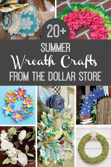 summer dollar store wreaths