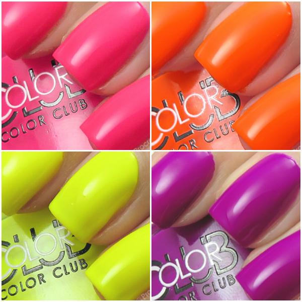 Neon nail polish swatch