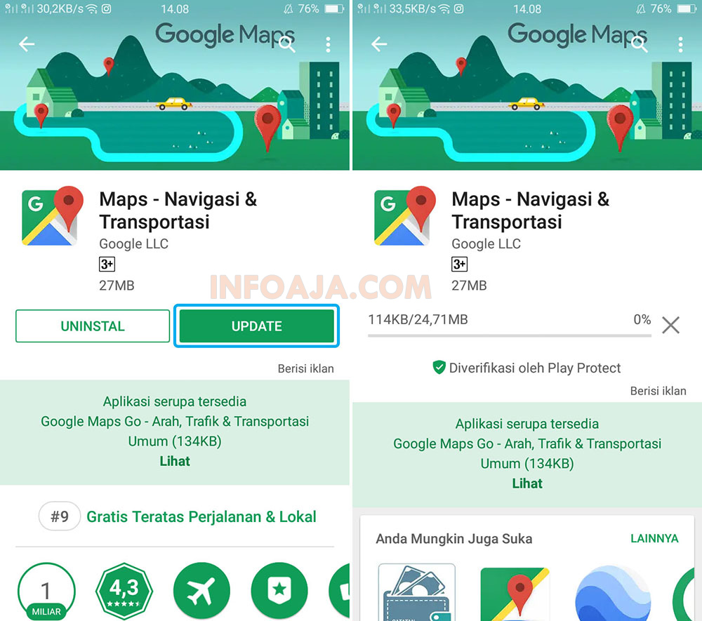 Update Google Maps