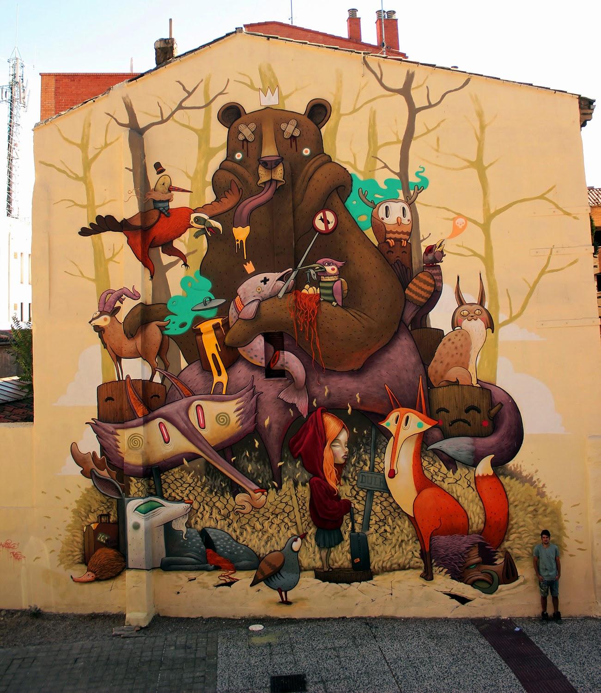 Streetartnews dulk creates a new mural for asalto for Mural street art