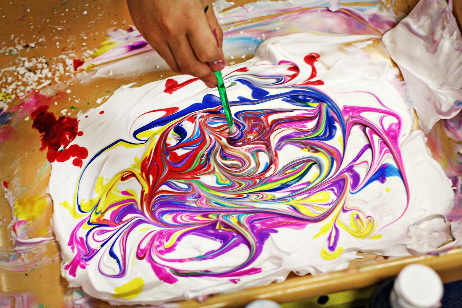 Marble Painting For Kids Water Colors