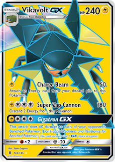 Vikavolt GX Guardians Rising Pokemon Card