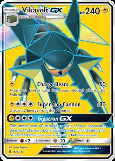 Vikavolt GX Guardians Rising Pokemon Card