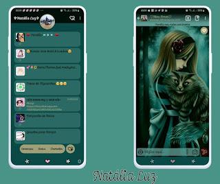 Cute Girls & Cat Theme For YOWhatsApp & Fouad WhatsApp By Natalia Luz