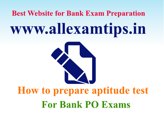 How to prepare aptitude test for bank po exams