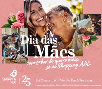 Promoção Dia das Mães 2021 ABC Shopping Ganhe Brinde Lata Exclusiva