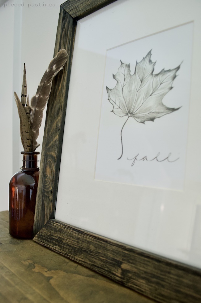 Minimalist Fall Decor, Simple Fall Decor at Pieced Pastimes
