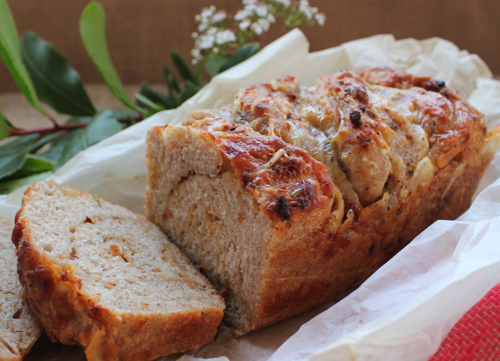 pan de tomate y albahaca panificadora