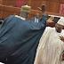 Photo of the day! A dancing Senator and a singing Senator meet at the senate