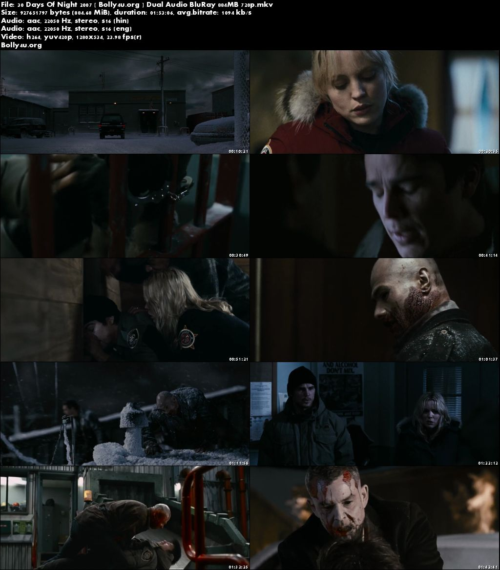 30 Days Of Night 2007 BRRip 850Mb Hindi Dual Audio 720p Download