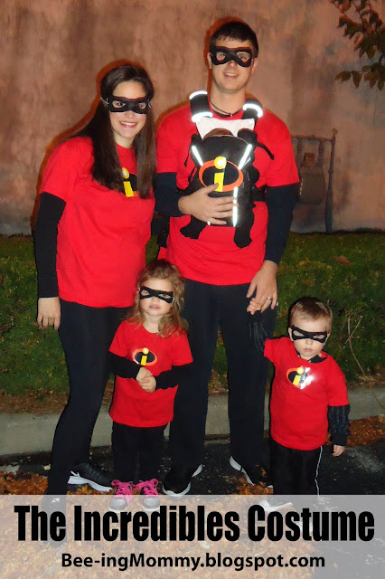 family costume theme, The Incredibles family costume, The Incredibles, family costume, Disney's The Incredibles, Disney's The Incredibles costume, The Incredibles costume, The Incredibles Halloween costume, DIY The Incredibles costume, DIY family costume, easy family costume, last minute halloween costume, last minute costume, family Halloween costume, family of 5 costume,
