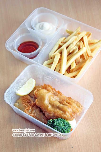 Shang Shack Drive-thru Pick Up by Shangri-La's Rasa Sayang Resort & Spa Penang Hotel Blogger Influencer Malaysia Makan Sedap Delicious Food Fish and Chips