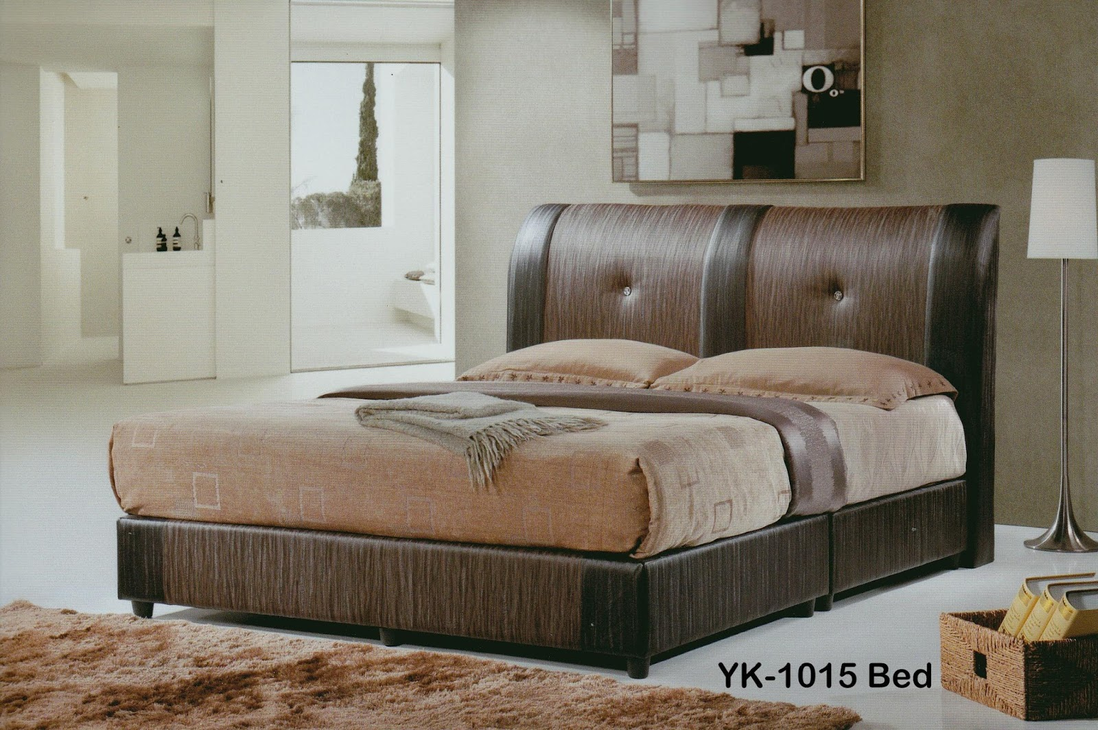 Sg tan queen size divan bed chocolate color lazada for Divan queen size bed