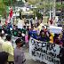 Tolak UU Prakerja, Aliansi Mahasiwa Pessel (Omnibuslaw) gelar aksi damai di Gedung DPRD Pessel.