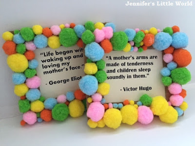Mother's Day quote pom pom frames