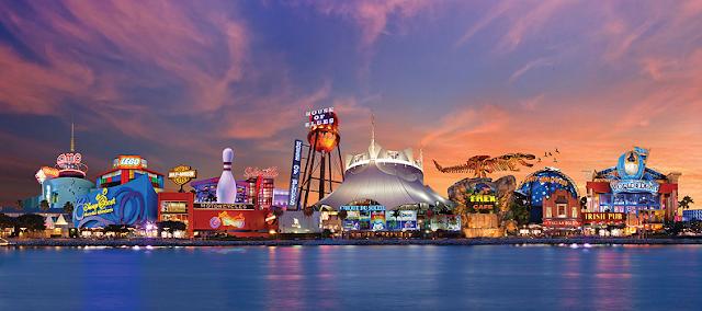 vista de Disney Springs em Orlando