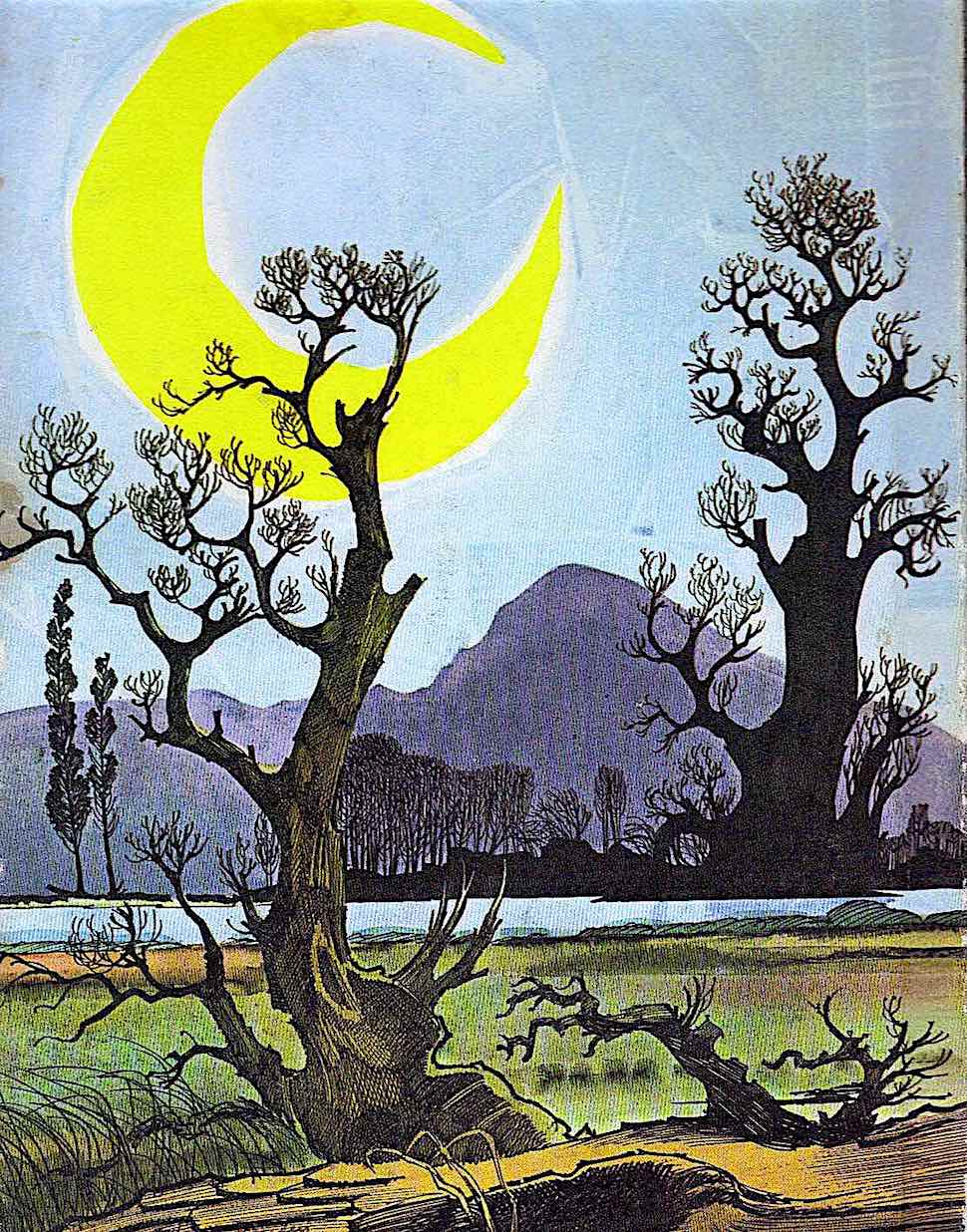 a Wende & Harry Devlin children's book 1965, the moon and a dead tree